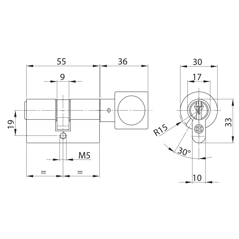 Knaufzylinder von CES