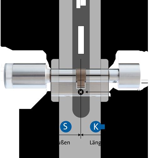 Zylinderlänge messen