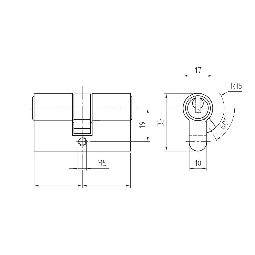 Türzylinder im vertikalen Wendeschlüsselsystem von CES